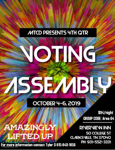 Area 64 4th Quarter Voting Assembly
